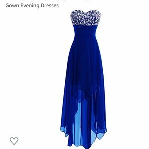 NWT Strapless BEADED Blue Prom/Bridesmaid Dress 6